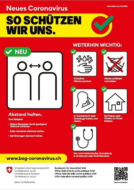 Massnahmen Coronavirus